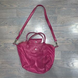 Pink magenta Longchamp purse bag